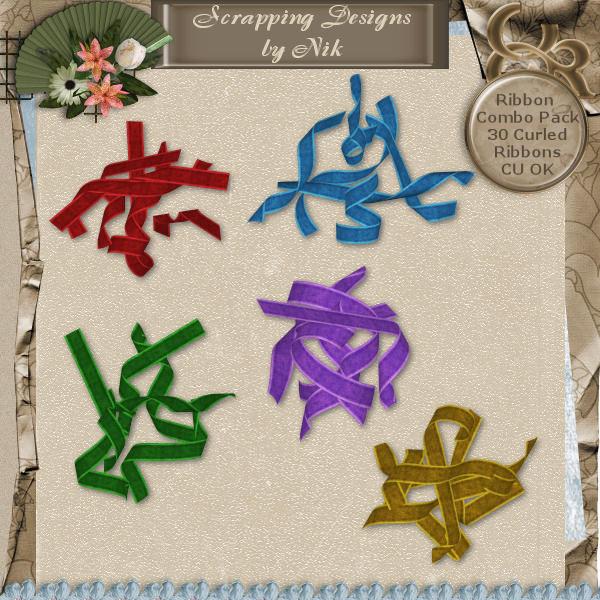 Curled Velvet Ribbons Combo Pack