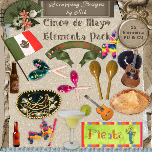 Cinco de Mayo Elements Pack