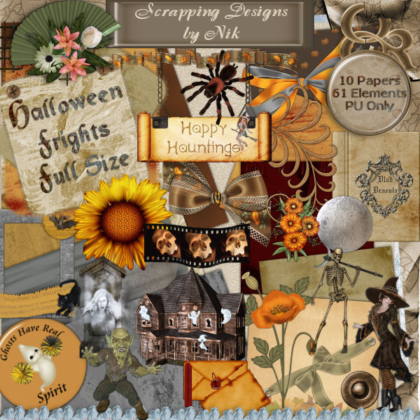 Halloween Frights Full Size Kit