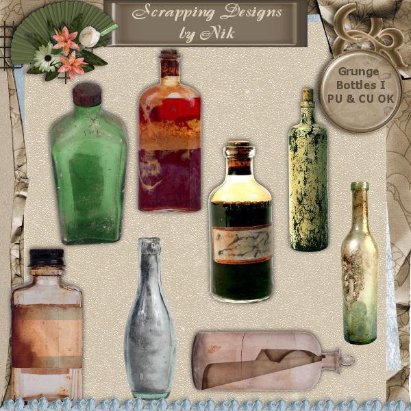 Grunge Bottles I