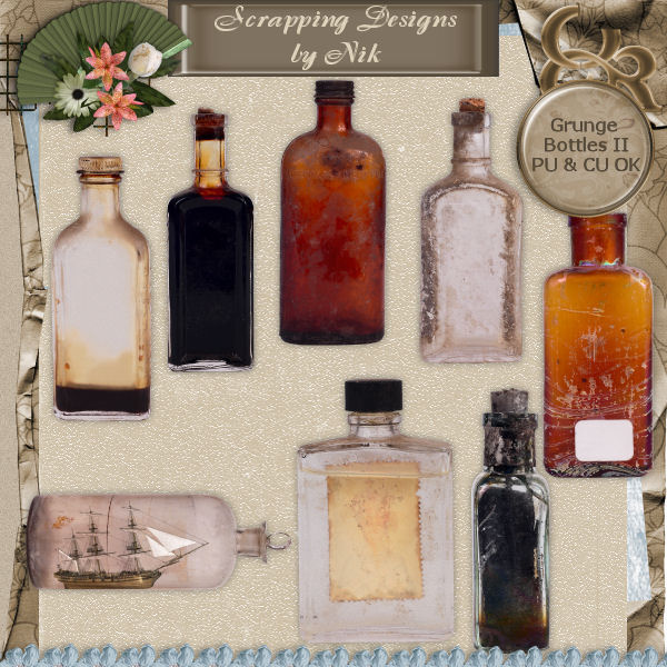 Grunge Bottles II