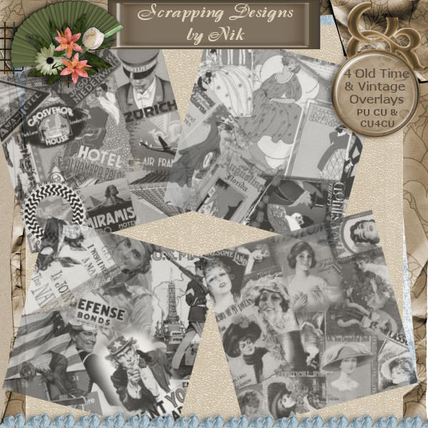Old Time Vintage Overlays