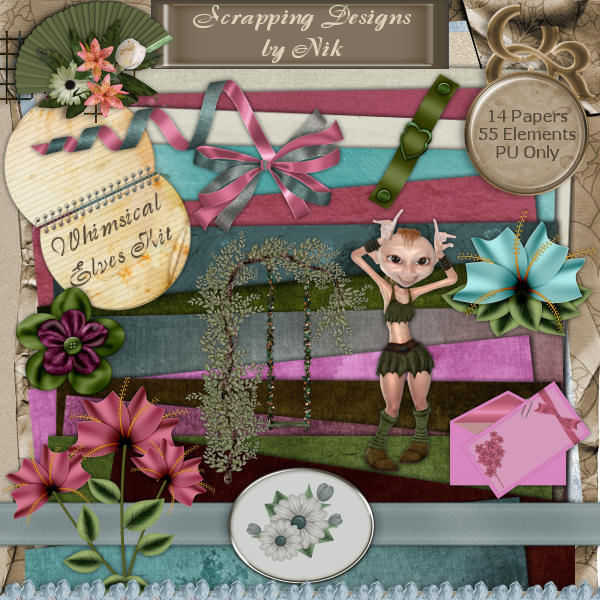 Whimsical Elves Full Size Kit