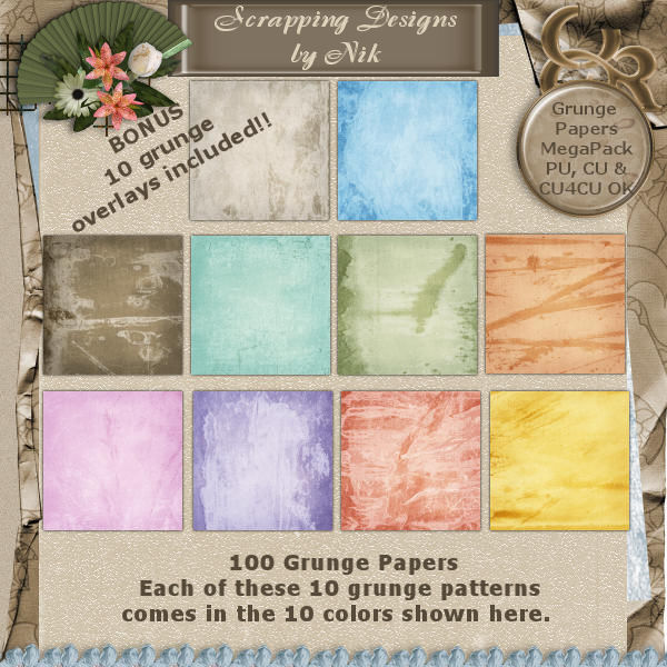 Grunge Papers MegaPack I