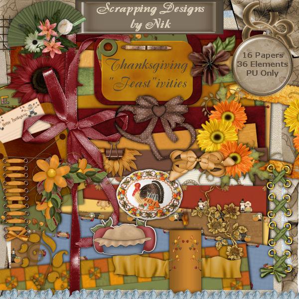 "Thanksgiving ""Feast""ivities Full Size Kit"