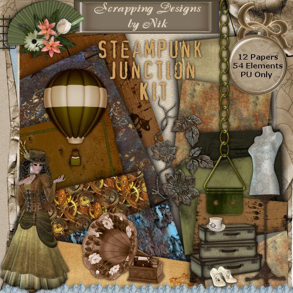 Steampunk Junction I Full Size Kit