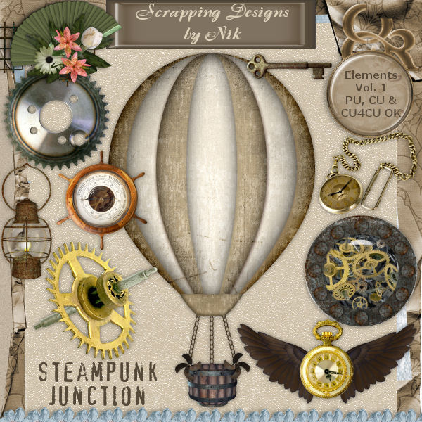Steampunk Junction Elements Vol. I