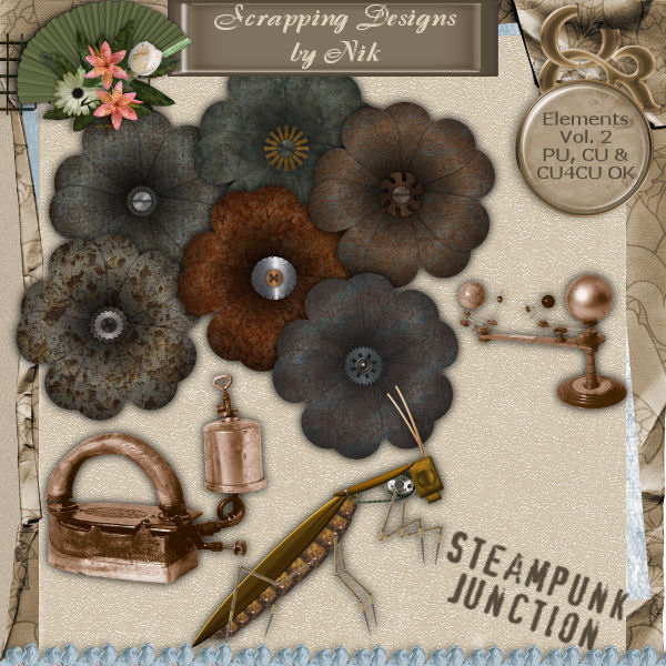 Steampunk Junction Elements Vol. II