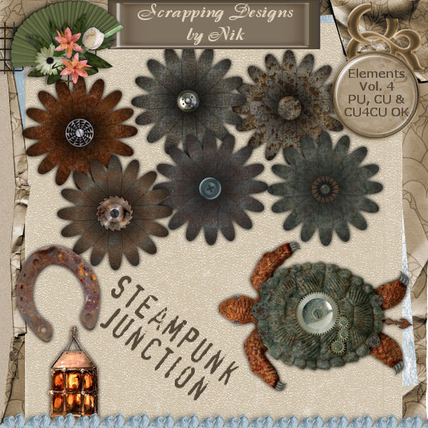 Steampunk Junction Elements Vol. IV