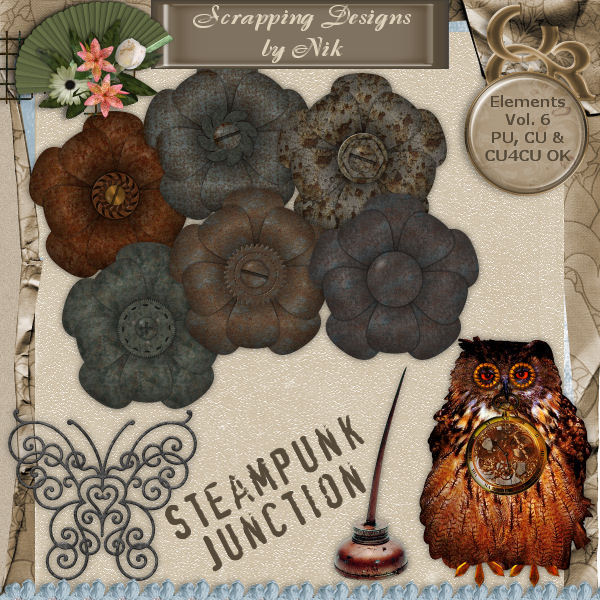 Steampunk Junction Elements Vol. VI