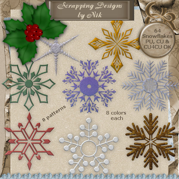 Snowflake Elements Pack