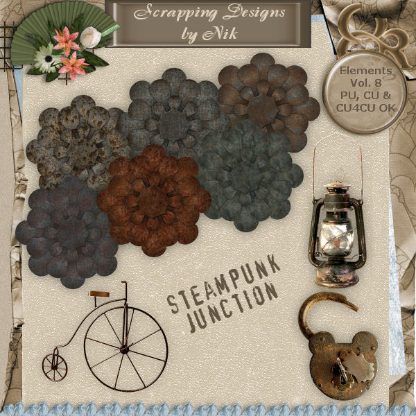 Steampunk Junction Elements Vol. VIII