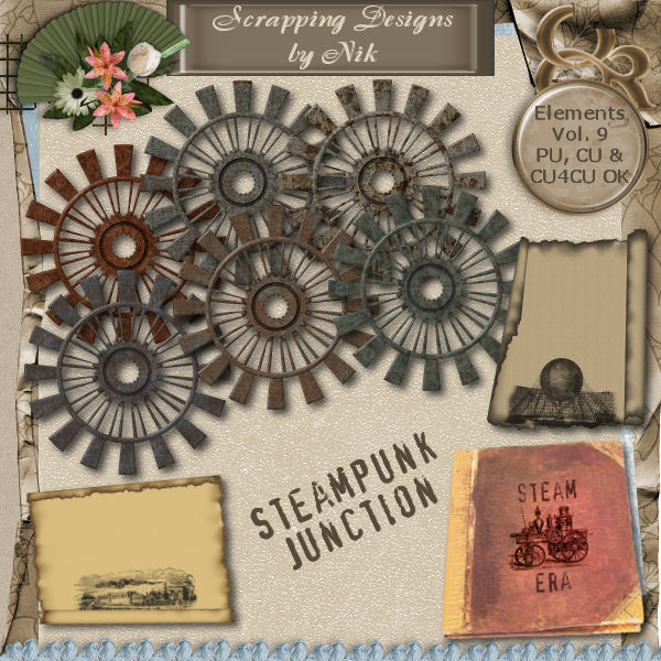 Steampunk Junction Elements Vol. IX