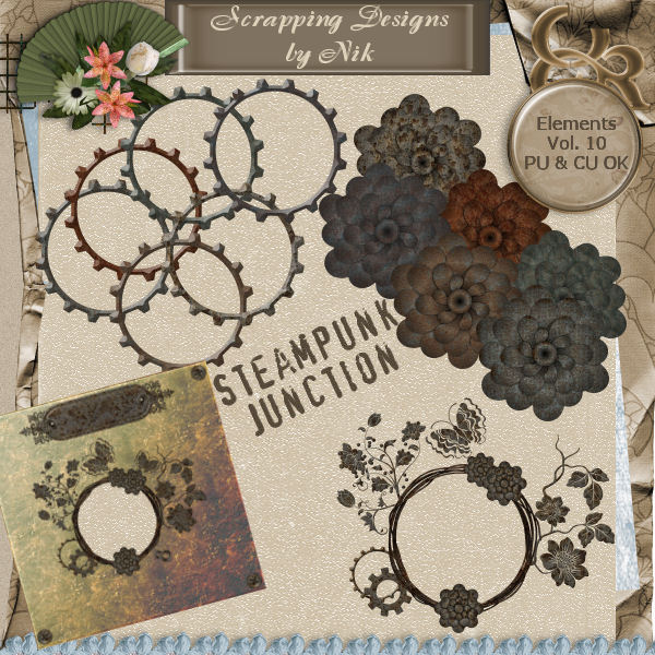 Steampunk Junction Elements Vol. X