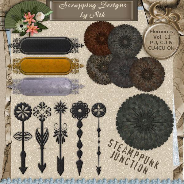 Steampunk Junction Elements Vol. XI