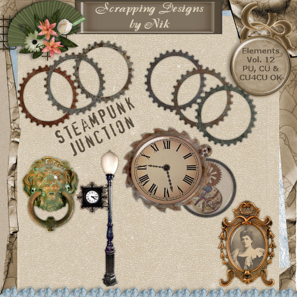 Steampunk Junction Elements Vol. XII