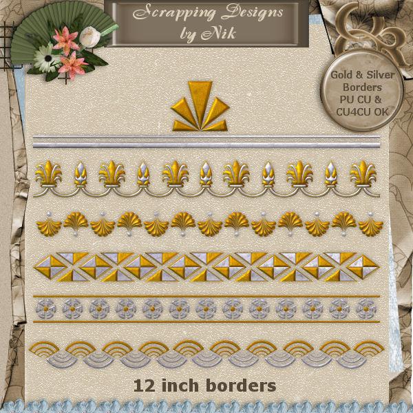 Gold & Silver Borders I