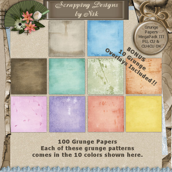 Grunge Papers MegaPack III