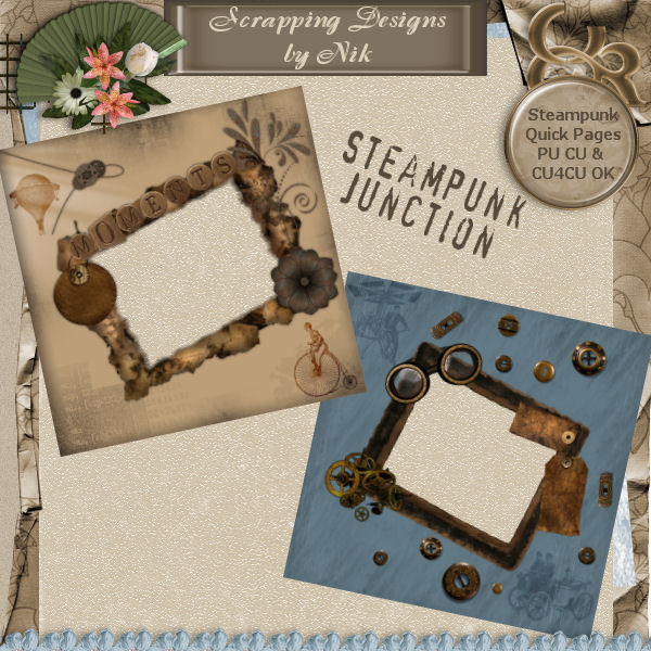 Steampunk Junction Quick Pages