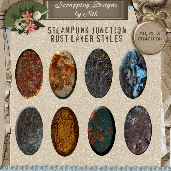 Steampunk Junction Rust Layer Styles