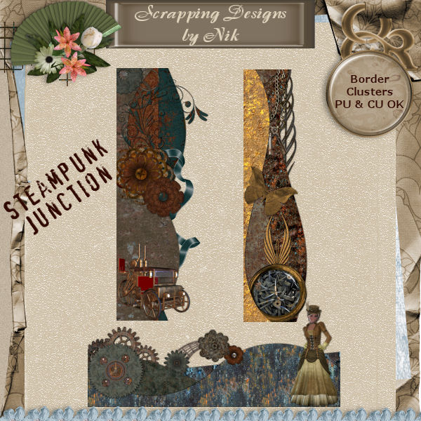 Steampunk Junction Border Clusters