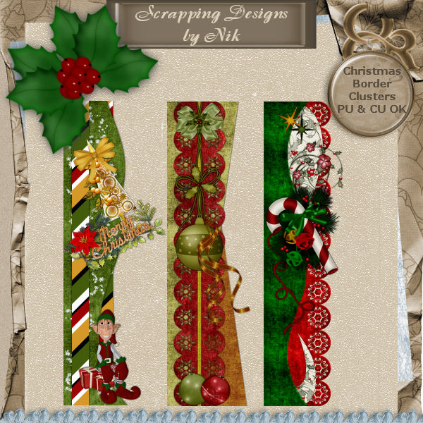 Christmas Border Clusters