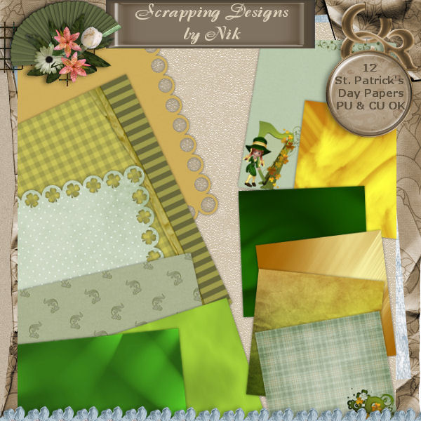 St. Patrick's Day Paper Pack