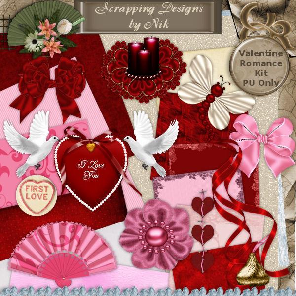 Valentine Romance Full Size Kit
