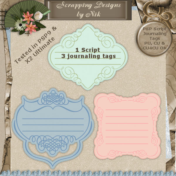 Journaling Tags Script