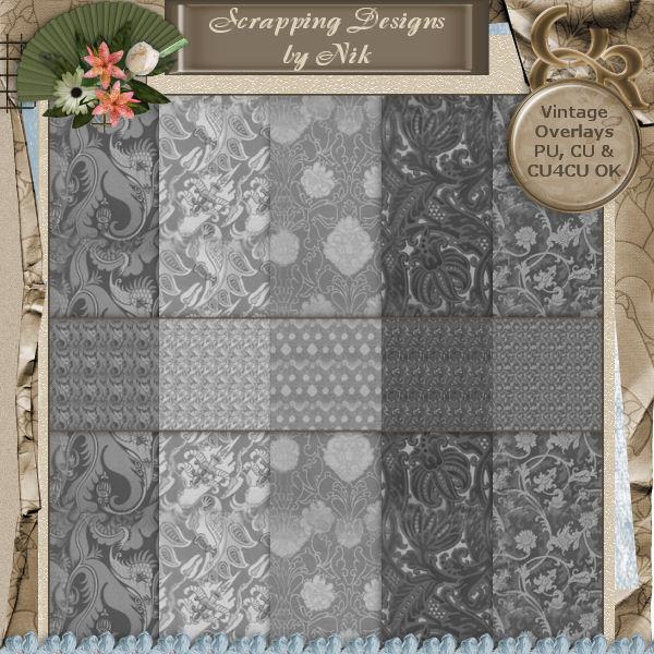 Vintage Textile Overlays