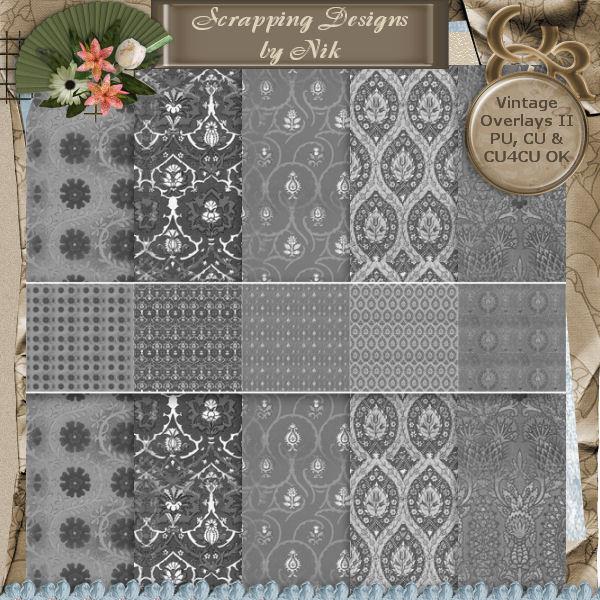 Vintage Textile Overlays II