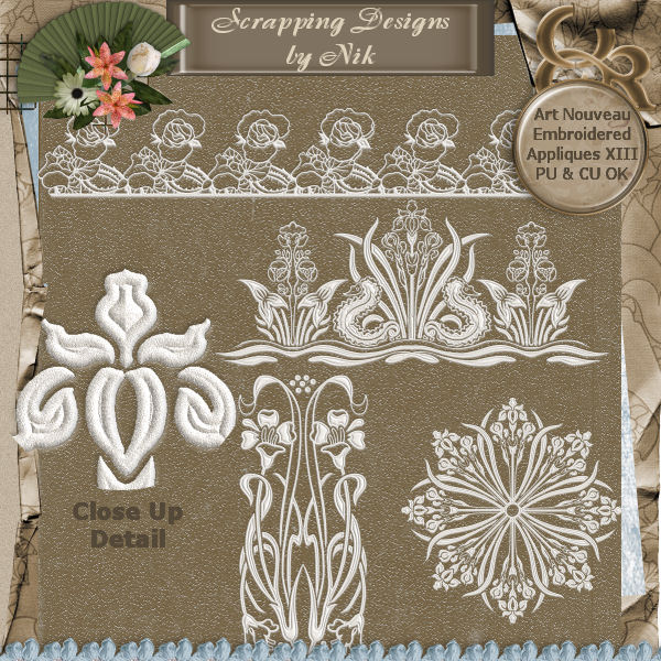 Embroidered Appliques XIII