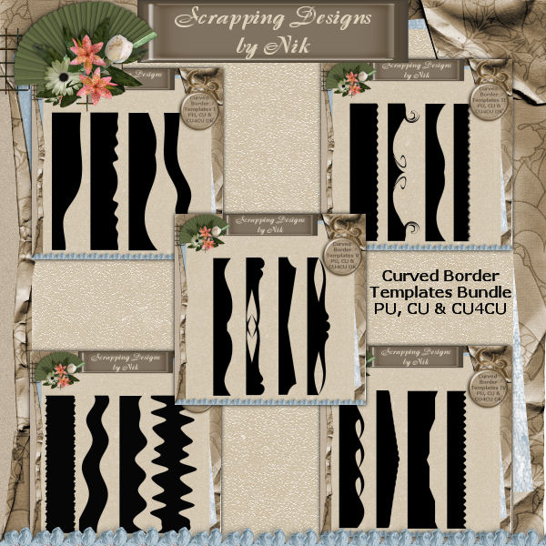Curved Border Templates Bundle 1