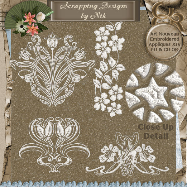 Embroidered Appliques XIV
