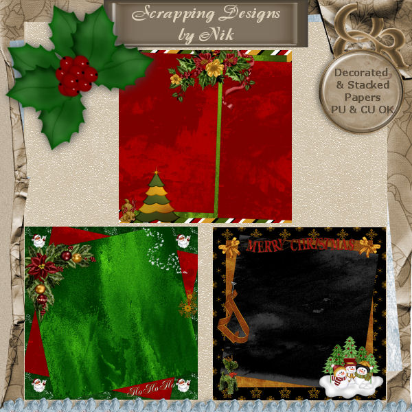 DecoStacked Christmas Papers