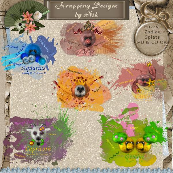 Fuzzy Zodiac Splats