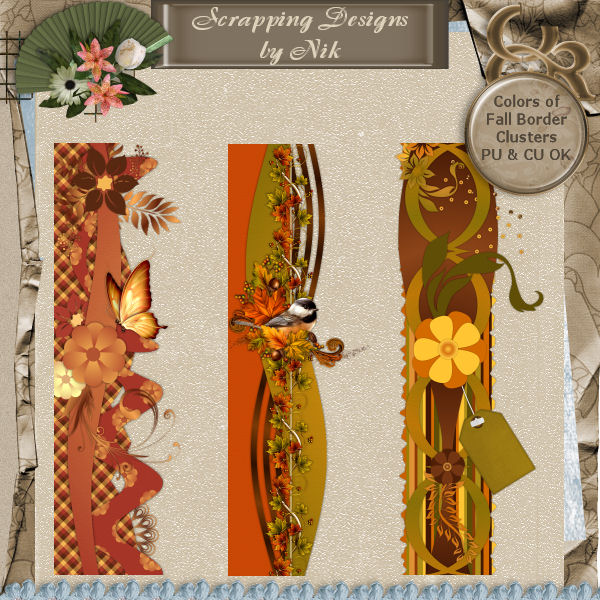 Colors of Fall Border Clusters