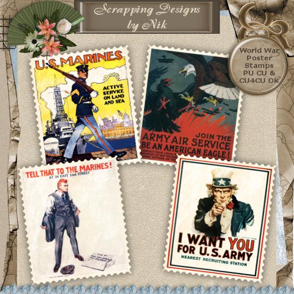 World War Stamps