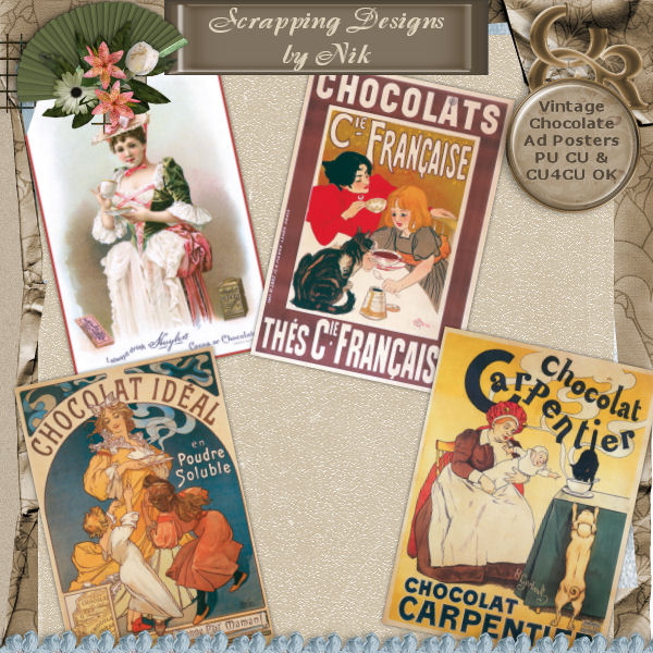 Vintage Chocolate Ad Posters
