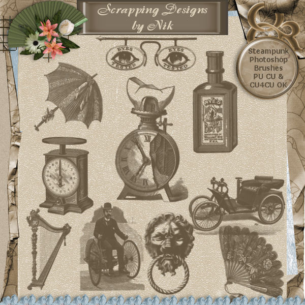 Steampunk Photoshop Brushes 4