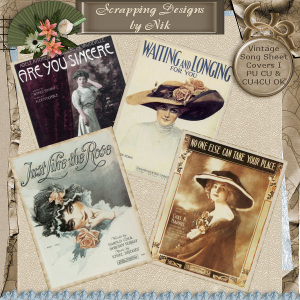 Vintage Song Sheet Covers I