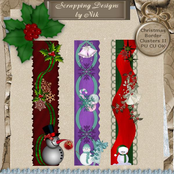 Christmas Border Clusters II