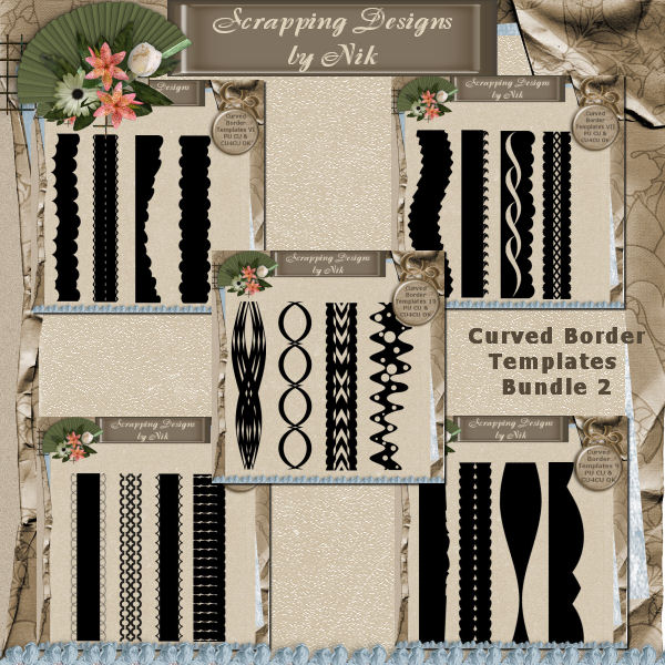 Curved Border Templates Bundle 2