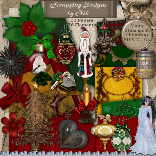 Merry Steampunk Christmas Kit