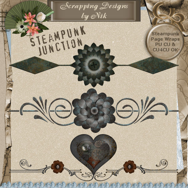 Steampunk Junction Page Wraps