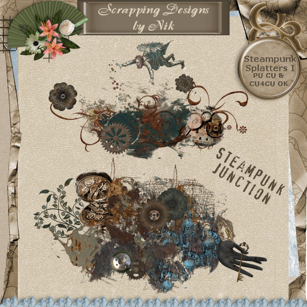 Steampunk Junction Splatters I