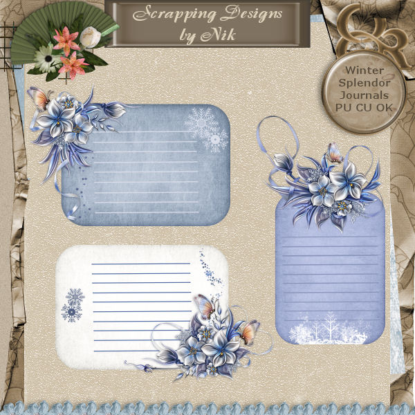 Winter Splendor Journals