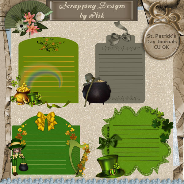 St. Patrick's Day Journals