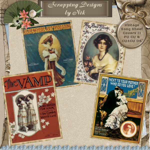 Vintage Song Sheet Covers II