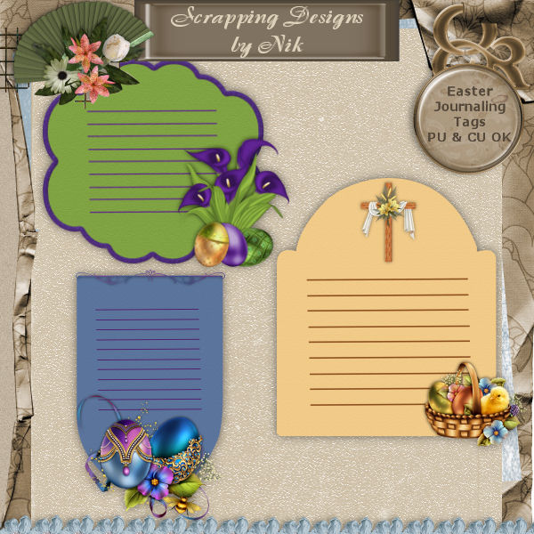 Easter Journaling Tags